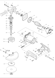 buy makita ga inch ac dc angle grinder replacement tool makita ga7911 parts schematic