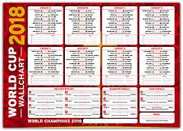 World Cup 2018 Wall Chart World Cup Wall Chart Russia 2018 Neat Stylish Wall Chart