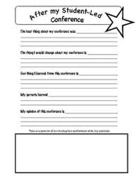 student conference form student led conference letter for kids to fill out freebie top