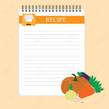 Recipe Blank Template Recipe Card Kitchen Note Blank Template Illustration Cooking
