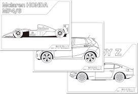 車のぬりえを無料ダウンロード自動車好きの子供も大人にも 子供の絵画