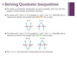 7 solving quadratic inequalities