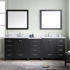 90 Bathroom Vanity Caroline Avenue 90 Double Bathroom Vanity Cabinet Set Virtu Usa