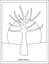 Small Picture Printable Coloring Page Tree With No Leaves