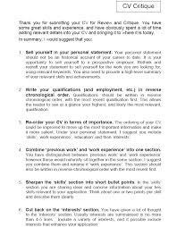 Cv Review And Critique Cv Review And Critique Services At The Cv