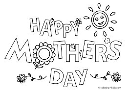 Free Mothers Day Coloring Pages Cards L