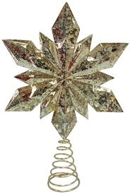 snowflake tree topper mercury glass gold snowflake tree topper elegant color home decor