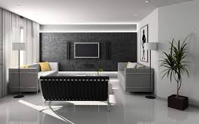 Small Picture Ideas For Home Decoration Living Room With Classic Wallpaper Black