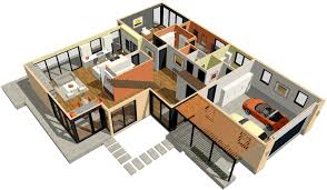 architectural home design. Simple Home Modern Home With 3D Dollhouse Overview On Architectural Design O