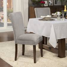 371 98 for 4 homepop dove grey velvet parson chairs set of 2 overstock ping the best deals on dining chairs