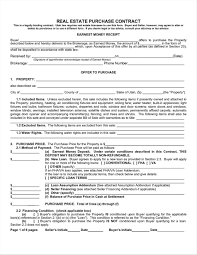 Purchase Offer To Purchase Contract Template Agreement Template