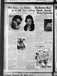 Image result for Lou Gehrig retirement newspapers