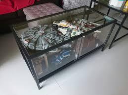 dyi display coffee table from ikea