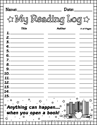 First Grade Reading Log 1st Grade Reading Log Forms Elementary Latest News