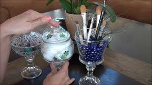Decorative Things To Put In Glass Jars DIY Decorative Glass Container Makeup Brush Holder Jewelry 33