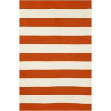 soro paprika rugby stripe outdoor rug