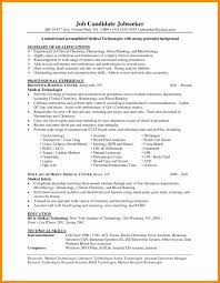 Example Of Resume For Medical Laboratory Technologist Medical Lab Technician Resume Format Lovely Medical Lab Technician 24