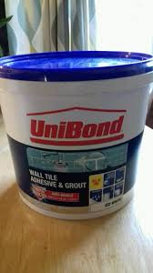 unibond wall tile adhesive grout 6 4kg new