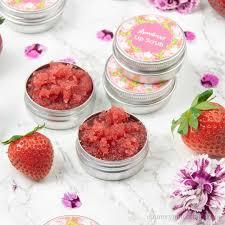 easy strawberry diy lip scrub with