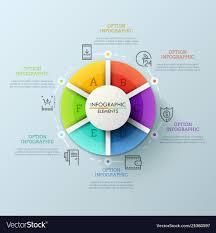 Circular Chart Divided Into 6 Colorful Parts And