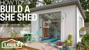 How To Design And Build A Shed She Sheds Plans For How To Build Customize