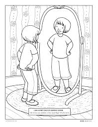 child looking in mirror clipart. primarily inclined child looking in mirror clipart