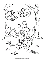 Kleurplaat Lieveheersbeestjes Dieren