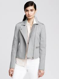 biker jackets banana republic gray cotton moto jacket