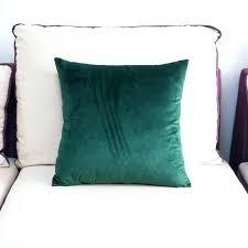 green velvet pillow. Green Velvet Pillow High Quality Soft Emerald Case Cushion Cover Dark .