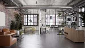 industrial office flooring. The Stripped-back Elements Of An Industrial Design Make Is Visually Pleasing Office Flooring