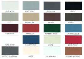 Union Metal Roofing Color Chart Colors Of Metal Roof Tetoca Com Co