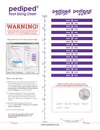Child Foot Measure Chart Pediped Warning Foot Sizing Chart