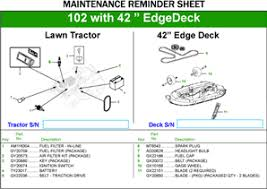 lawn mower parts lawn tractor parts john deere us view maintenance reminder guides