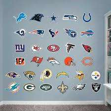nfl wall decals logo collection fathead nfl life size wall decals