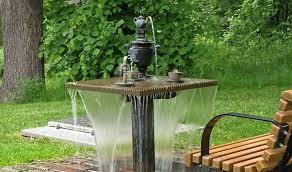 small garden with fountain small outdoor
