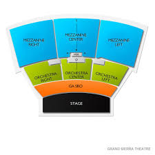 Grand Sierra Theater Seating Chart Grand Sierra Theatre 2019 Seating Chart