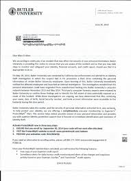 data breach notification letter butleruniversity 01 recent so a