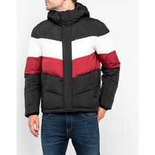 puffer jacket lee men puffer jacket pitch black l86vmeem image 1
