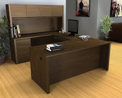 wooden office table. Small Office Table Design Rectangle Shape Black Wooden Storage Cabinets Keyboard Shelf Tiered Filing Grey Wall Paint Color L White