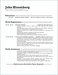 Massage Therapist Resume Examples Adorable 48 Beautiful Massage Therapist Resume Example Wtfmaths