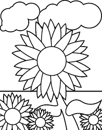 Small Picture Sunflower Garden Coloring Page Download Print Online Coloring