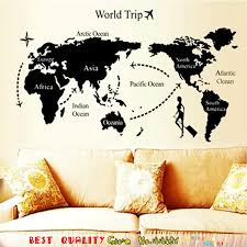 cool office decor. 2 Size Cool World Map Wall Stickers Office Living Room Decorations Vinyl Home Decor Waterproof Removable Decals Mual Art-in From