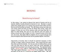Sample Synthesis Essays Synthesis Essay On Boxing Performance Professional Baseball
