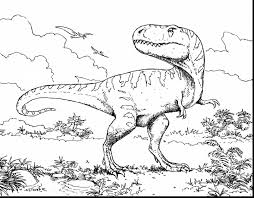 Coloring Pages Dinosaurs T Rex Fresh Spinosaurus Vs T Rex Coloring