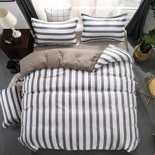 black white grey classic bedding set striped duvet cover white bed linen geometric flat sheet set queen bed fashion new bedding linen duvet cover full from