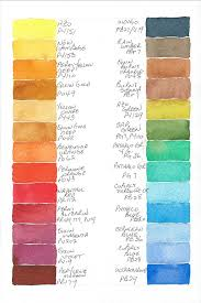 Watercolor Combination Chart Watercolor Palette Colors At Getdrawings Com Free For