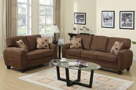 Hazel Brown Fabric Sofa And Loveseat Set  Steal-A-Sofa Furniture Outlet