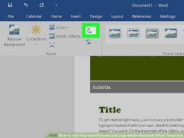 Microsoft Office Tamplates How To Add Your Own Pictures And Logo Within Microsoft