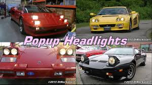 Pop Up Lights Tribute To Pop Up Headlights Almost Every Car Made With Them