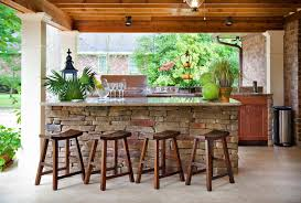 stone patio bar. Outdoor Covered Bar Patio Traditional With Kitchen Stone